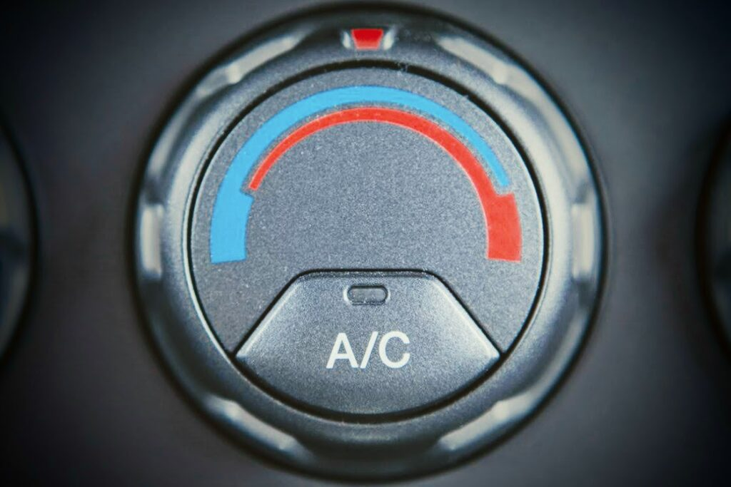 closeup image of ac button